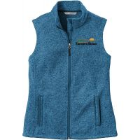 20-L236, X-Small, Medium Blue Heather, Left Chest, North Dakota Farmers Union.